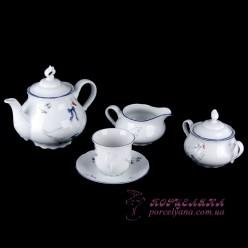 """Чайный сервиз Constance, 230 мл, 17 пр. /декор """"Гуси""""/"""