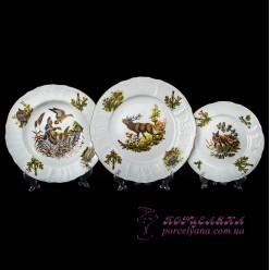 """Набор тарелок Bernadotte, 18 предметов /декор """"Охота""""/"""