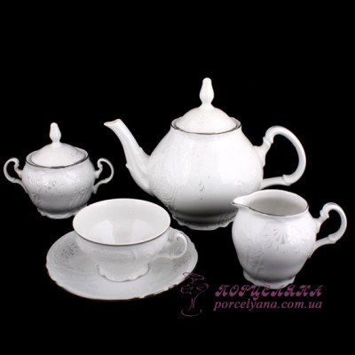 "Чайный сервиз Bernadotte, 205мл, 17 пр. /декор ""Невеста""/"
