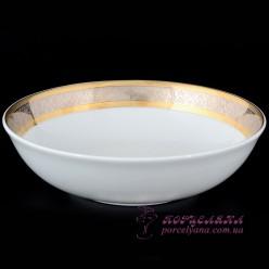 "Салатник Opal, 19 см. /декор ""Широкий кант платина, золото""/"
