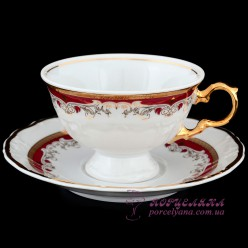 """Набор чашек для чая Marie-Louise, 240мл, 12 пр. /декор """"Красная лилия""""/"""