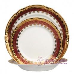 """Набор тарелок Constance, 18 пр. /декор """"Малиновая лента""""/"""