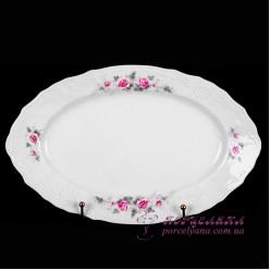 """Блюдо овальное Bernadotte, 26см. /декор """"Бледные розы""""/"""