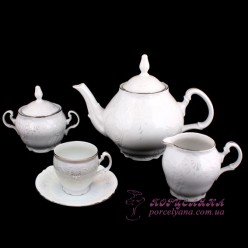 "Чайный сервиз Bernadotte, 240мл, 17 пр. /декор ""Невеста""/"