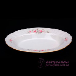 """Блюдо овальное Bernadotte, 24см. /декор """"Бледные розы""""/"""