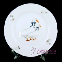 """Набор тарелок Constance, 24 см, 6 пр. /декор """"Гуси""""/"""
