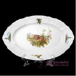 """Блюдо овальное Bernadotte, 34 см  /декор """"Охота""""/"""