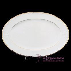 """Блюдо овальное Constance, 39 см. /декор """"Золотая полоска""""/"""