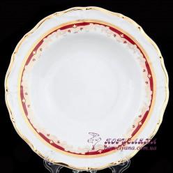 "Набор глубоких тарелок Marie-Louise, 23см. 6 пр. /декор ""Красная лилия""/"