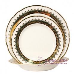 """Набор тарелок Constance, 18 предметов /декор """"Зеленая лента""""/"""