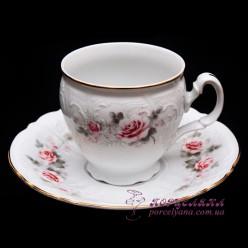 """Набор чашек для капучино Bernadotte, 170 мл. /декор """"Бледные розы""""/"""