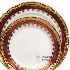 """Набор поставных тарелок Constance, 25см, 6 пр. /декор """"Малиновая лента""""/"""