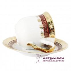 "Набор чашек для чая Constance, 230мл, 12 пр. /декор ""Малиновая лента""/"