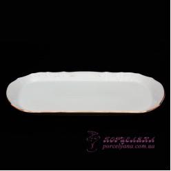 """Поднос прямоугольный Bernadotte, 37 см /декор """"Золотой ободок""""/"""