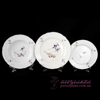 """Набор тарелок Constance, 18 предметов /декор """"Гуси""""/"""