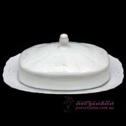 """Маслёнка прямоугольная с крышкой Bernadotte /декор """"Невеста""""/"""