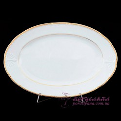 """Блюдо овальное Constance, 32 см. /декор """"Золотая полоска""""/"""