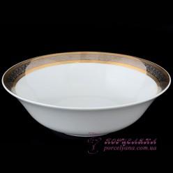 "Салатник Opal, 25 см. /декор ""Широкий кант платина, золото""/"