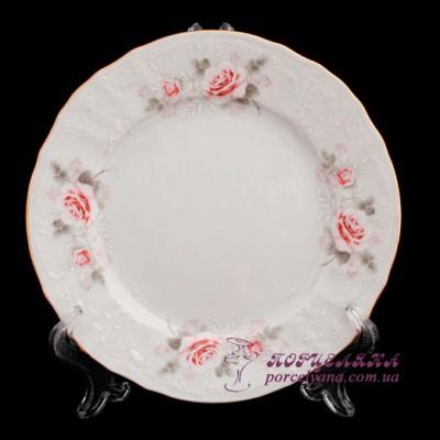 """Набор десертных тарелок Bernadotte, 19см. 6 предметов /декор """"Бледные розы""""/"""