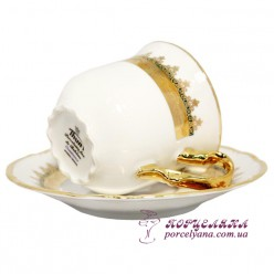 "Набор чашек для капучино Constance, 160мл. /декор ""Зеленая лента""/"