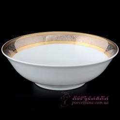 "Салатник Opal, 16 см. /декор ""Широкий кант платина, золото""/"