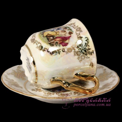 "Набор чашек для кофе Constance, 90мл, 12 пр. /декор ""Мадонна, перламутр""/"