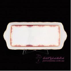 """Поднос прямоугольный Marie-Louise, 37см. /декор """"Красная лилия""""/"""
