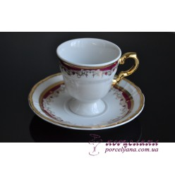 "Набор чашек для кофе Marie-Louise, 90мл, 12 пр. /декор ""Красная лилия""/"