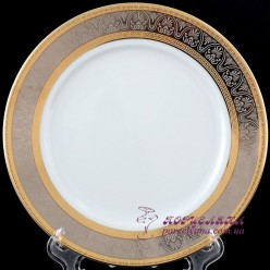 "Набор десертных тарелок Opal, 17 см, 6 пр. /декор ""Широкий кант платина, золото""/"