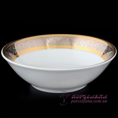 "Салатник Opal, 13 см /декор ""Широкий кант платина, золото""/"